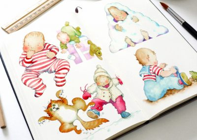 Illustrations for Carlton/ITV programme support booklet, 'Baby Matters'