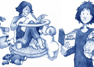 Illustrations for Carlton/ITV programme support booklet 'Breaking the Cycle: the Case for Family Therapy'.