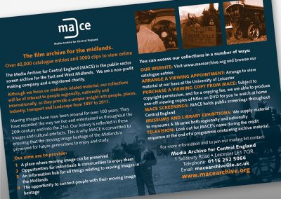 Client: MACE Media Archive for Central England | Advert |