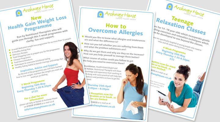 Archway Health Hub flyers