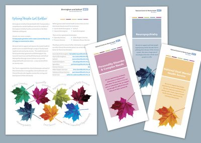 Client: NHS | Speciality Services literature