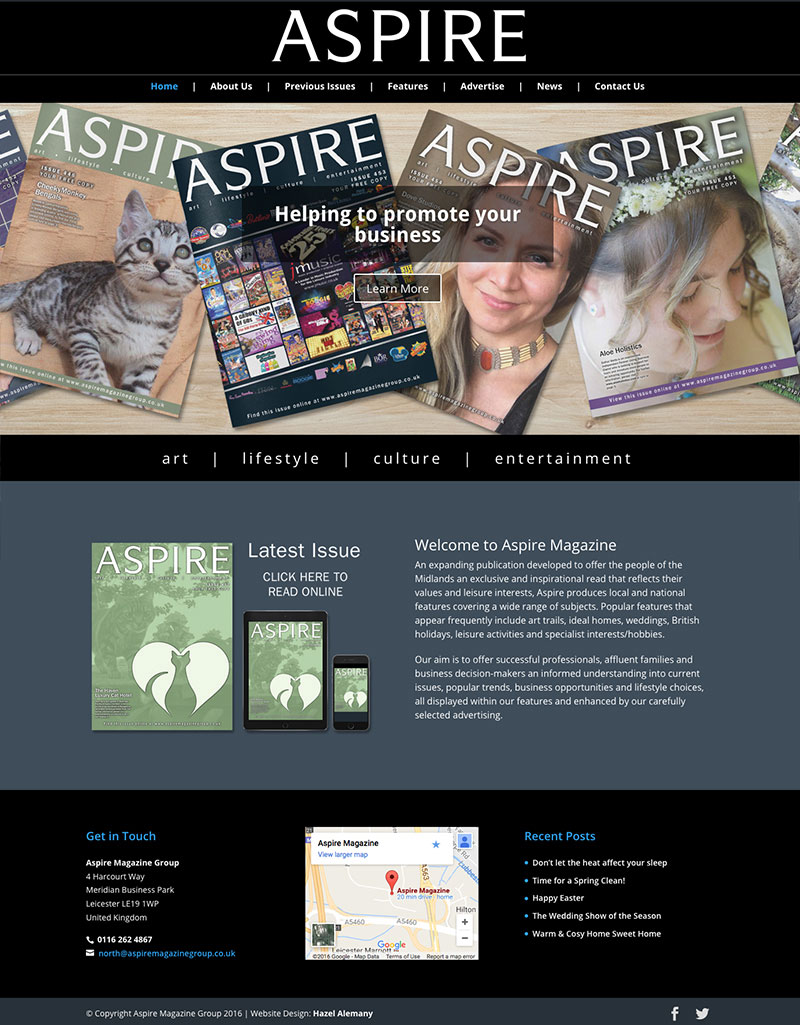 Aspire Magazine - website page 2