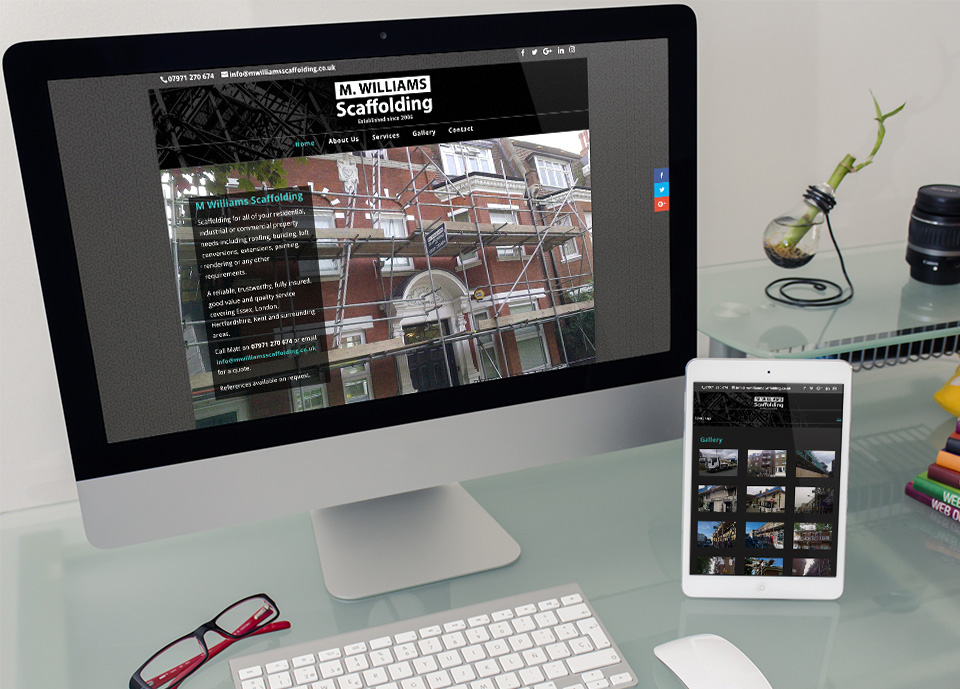 M Williams Scaffolding Website Design and Development